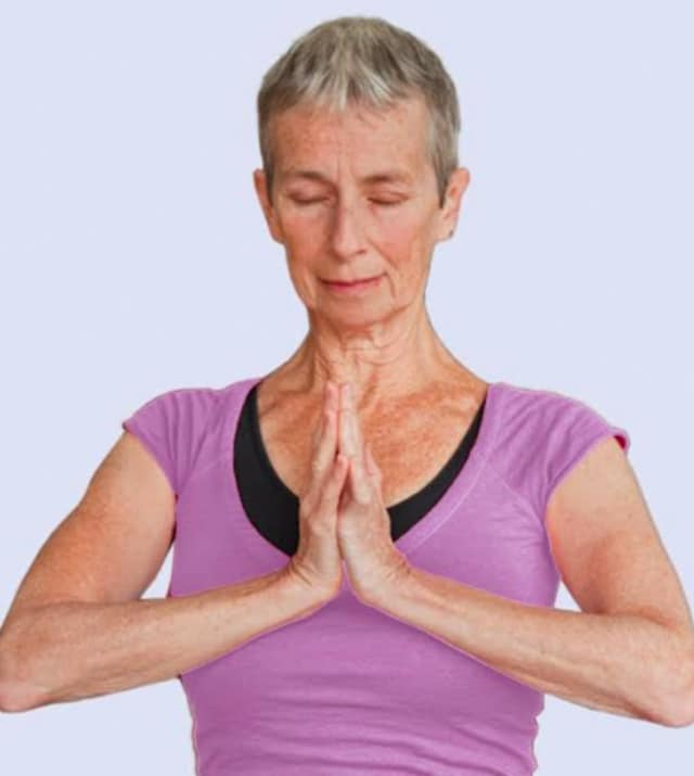 Meditation with light yoga is offered at the Ridgefield Park Library by Art of Living.