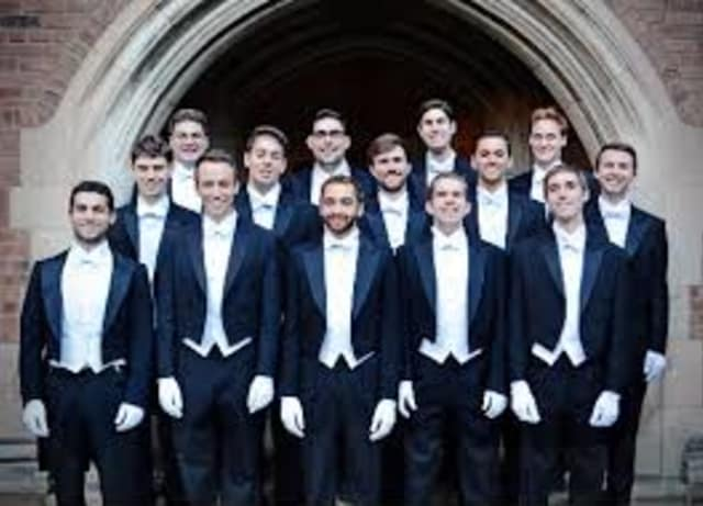 The Yale a cappella group The Whiffenpoofs will perform on Thursday, April 24 at the Unitariun Church in Westport.