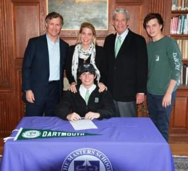 Old Greenwich resident Sam Epley, a senior at The Masters School, has signed a letter of intent to play squash for Dartmouth for the next four years, where he will compete on the university's Division 1 team.