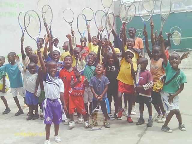 Norwalk's TFI Envisions is collecting children's shoes to donate to Oyebog Tennis Academy in Cameroon.