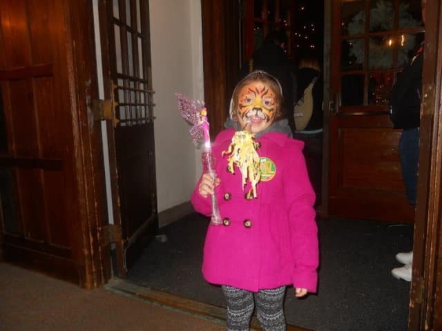 Face painting is just one of many activities children can enjoy at First Night Westport/Weston, the town's annual New Year's Eve celebration.