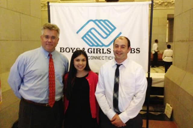 From left: State Rep. John Shaban poses with Boys & Girls Club of Redding-Easton Youth of the Year Sophie Ota and Unit Director Unit Director Matthew Johns during their visit to the Capitol building.