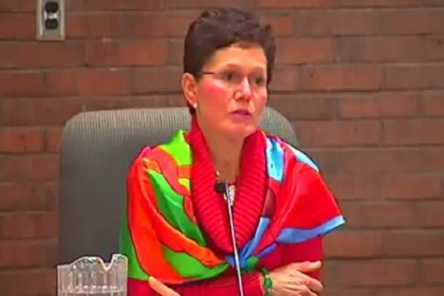 The Bedford Board of Education, headed by Susan Elion Wollin (pictured), has adopted a resolution calling for the federal government to end the No Child Left Behind Act.